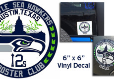 Official Decals for Austin, Texas Seahawks Fans Are In!
