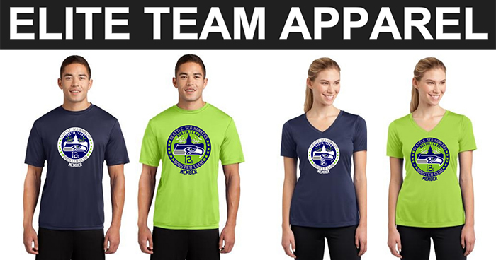 Elite Team Apparel Seahawks Booster Club Shirts