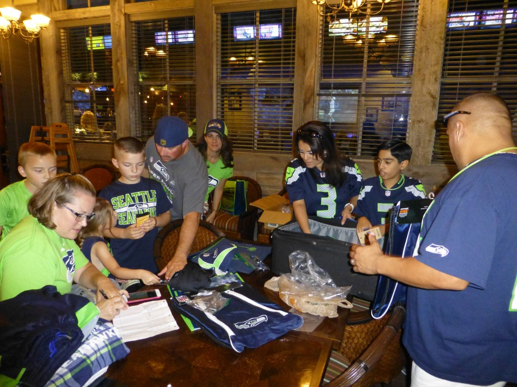 12th Man Fan Gear for Seattle Seahawks at Social Event in North Austin