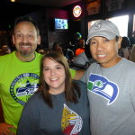 Eric (philanthropy director), Krystle (LLS representative) and Rick (founder of the best Seahawks fan club in Austin).